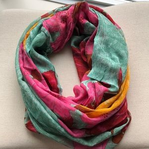 Anthropologie Floral Infinity Scarf